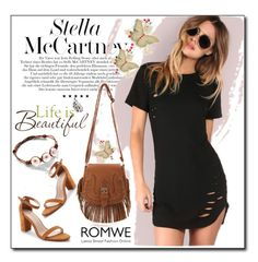 """""""ROMWE 1"""" by woman-1979 ❤ liked on Polyvore featuring STELLA McCARTNEY and Brewster Home Fashions"""
