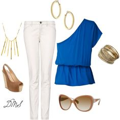 Blue and Gold, created by dmsteger.polyvore.com