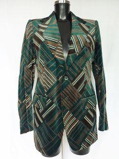 Veste Homme Vintage Velours vert Taille 40 VENDU! SOLD OUT!