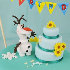 How to make a Frozen Fever Birthday Cake