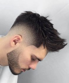 Best 44 Quiff Haircuts For Men 2019 [Top Styles Covered] Spiky Quiff With Beard - Best Quiff Haircut Mens Hairstyles With Beard, Quiff Hairstyles, Hair And Beard Styles, Curly Hair Styles, Cool Hairstyles, Hair Style For Men, Short Hairstyles For Men, Cool Haircuts, Haircuts For Men