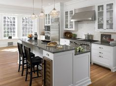 Kitchen Photos Tiered Kitchen Island With Drop In Range Design, Pictures, Remodel, Decor and Ideas