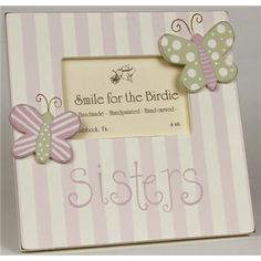 Sisters Hand-painted picture frame #pictureframe #sisters #roomdecor