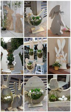 A húsvéti készülődés hajrájában megmutatom nektek a kedvenc ünnepi figuráimat. Pár hete én is elkészítettem a saját verziómat (ITT megnézhetitek az eredményt), most pedig összeállítottamegy bőséges válogatást a legbájosabb modellekből. Easter Projects, Easter Crafts, Spring Crafts, Holiday Crafts, Easter Flower Arrangements, Deco Floral, Diy Easter Decorations, Hoppy Easter, Easter Wreaths