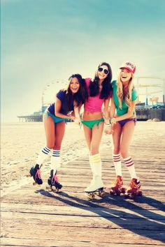 Roller skating by the beach...perfection!