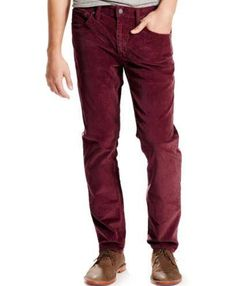 Levi's 511 Corduroy pants Skinny straight rise burnt henna men's ...