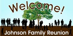 Family Reunion Banner, Personalized by bannergrams.com