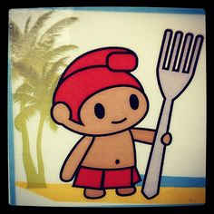7-Eleven's menehune mascot = cuuute!