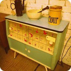 1950s kitchen cabinet