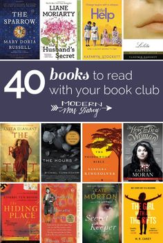 40 books to read with your book club.