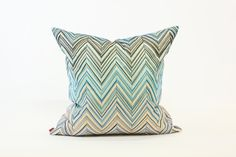 Janet Pillow in Blue from Missoni Home. Available at shopstelladallas.com