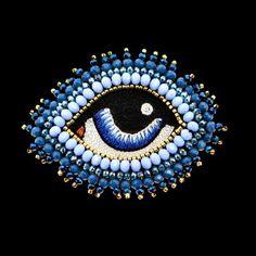 """Copy of Broche """"je t'ai au oeil"""" blue V3 - celeste-mogador.com"""
