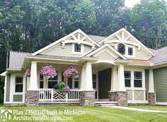 Client-built #houseplan 23503JD in Michigan. 3 beds. 2 baths, just under 2,000 square feet.