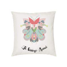 Cojín Mamá Flores. Para regalar el Día de la Madre, Cumpleaños, Aniversario etc.. Visita nuestra tienda que hemos creado una línea de regalos para Mamá. Camisetas iguales, Tazas, Toallas y Cojines Personalizados. ¡VISÍTANOS!