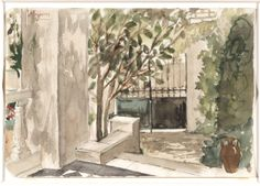 The ~ Artworks of Yiannis Tsaroychis Greek Paintings, National Gallery, Painter Artist, Greek Art, 10 Picture, Art Database, Drawing Sketches, Sketching, Love Art