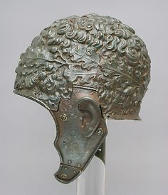Roman Parade Helmet with crown of oak leaves
