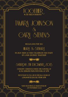 Great Gatsby Invitation Template | Invitation templates and Gatsby