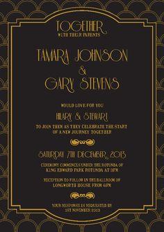 Art Deco Frame - Letterpress Invitation | Ink color, Wedding and ...