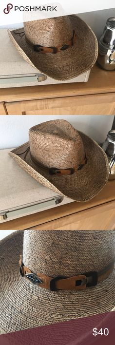 3819d9541db Stetson Cowboy Hat - Sz M Brand new Monterrey Bay unisex palm leaf cowboy  hat by