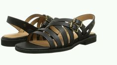 G.H. Bass & Co Women's Leather Sandals Flats Black New  #GHBassCo #sandals