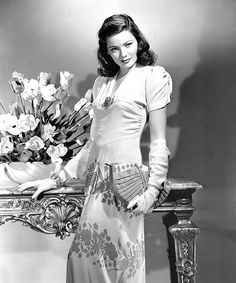 Gene Tierney in a publicity still for 'Rings On Her Fingers' , 1942