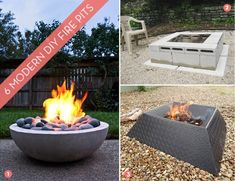 I don't know about you, but I feel like an evening get together outdoors just isn't complete without the warmth and mystique of a well-made fire. Unfortunately, fire pits can be quite pricey, but with a few simple materials you can make your own for a fraction of the cost. Here are 6 modern DIY fire pit ideas for just about any skill level!