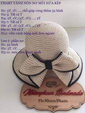 Best 12 Chart nón 2 – Page 416090453071971512 - Her Crochet Mode Crochet, Crochet Cap, Diy Crochet, Crochet Stitches, Sombrero A Crochet, Crochet Summer Hats, Knitting Patterns, Crochet Patterns, Flower Tutorial