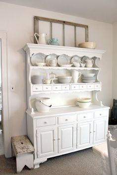 Sarah and DrewB: china cabinet before & after
