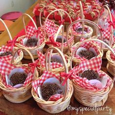 Little Red Riding Hood Birthday Party Food Ideas... Hedgehogs in a basket!