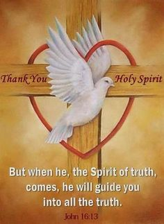 JOHN 16:13 NASB  But when He, the Spirit of truth, comes, He will guide you into all the truth; for He will not speak on His own initiative, but whatever He hears, He will speak; and He will disclose to you what is to come.