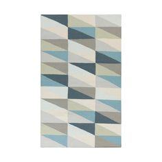 You can't possibly go wrong with this Right Angle Rug. Its geometric design, soft hues, and snuggly texture make it the right way to go when picking out a rug.  Find the Right Angle Rug, as seen in the Retronaut: The Mid-Century Maniac Collection at http://dotandbo.com/collections/retronaut-the-mid-century-maniac?utm_source=pinterest&utm_medium=organic&db_sku=92756