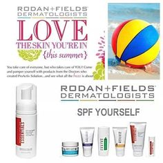 Protect your skin with Rodan + Fields sunscreen items!  Love the skin you're in!  Tcarrasquillo.myrandf.com