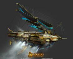 Blackbeard's flying ship: Lady Aurora Dawn by ~yakonusuke on deviantART
