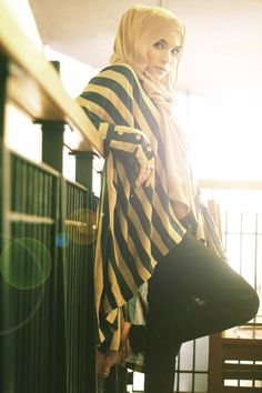 HIJAB FASHION: Her pose, her facial expression, her outfit all gorgeous mashallah