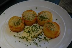 """Potato """"scallops"""" that would come loaded"""