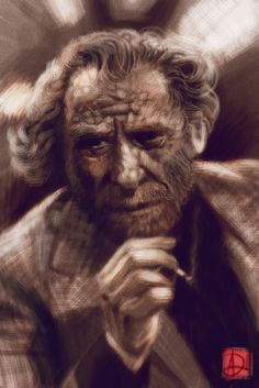 A few buddies are doing these awesome painting of writers that frequented a local restaurant that is being refurbished. Charles Bukowski, Lee Jeffries, Cool Paintings, Deviantart