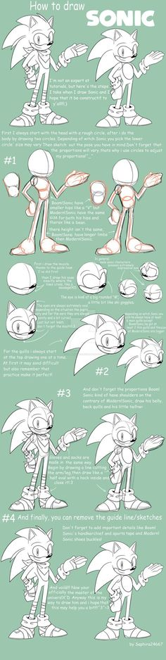 How To Draw Sonic The Hedgehog by Saphira24667 on DeviantArt
