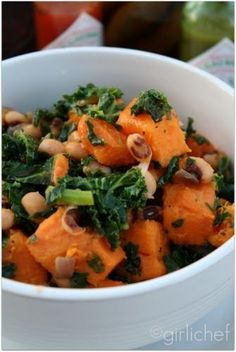 Black-Eyed Peas with Kale and Sweet Potatoes | All Roads Lead to the Kitchen