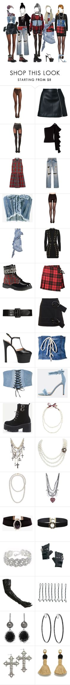 """[ live ] G-1 _ E.A.T."" by xxzodiacentertainmentxx ❤ liked on Polyvore featuring Wolford, Guild Prime, Pretty Polly, Beaufille, Elizabeth and James, UNIF, Jonathan Simkhai, Philosophy di Lorenzo Serafini, SPANX and Balmain"