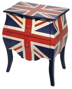 Union Jack bed side table
