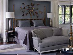 Bedroom with elegant details designed by Jean-Louis Deniot.