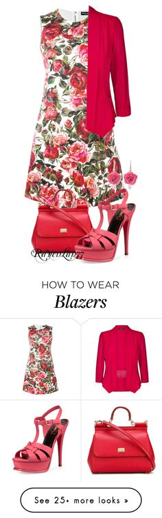 """Summery Floral Dress"" by ravenlancaster on Polyvore featuring Dolce&Gabbana, City Chic, NOVICA, Yves Saint Laurent and plus size clothing"