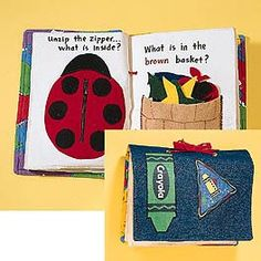 downloadable pattern for a quiet book - cool!