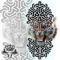 Lion Tattoo Design, Cat Tattoo Designs, Photoshop Tattoo, Tattoo Trash, Crown Drawing, Mandala, Japanese Sleeve Tattoos, Soul Art, Cool Sketches
