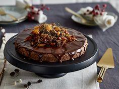 Weihnachtlicher Trüffelcake: No bake, glutenfrei und mit Maronen