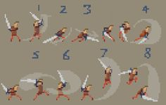 pixel art character animated - Buscar con Google