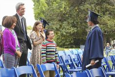 Axl Heck graduating from school. Atticus Shaffer, Charlie Mcdermott, Patricia Heaton, The Middle, Favorite Tv Shows, All About Time, Childhood, Becca, School