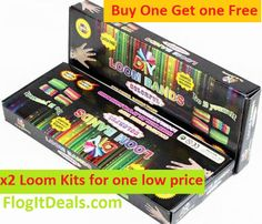 $18 Rainbow Loom Band Kits buy one get one free + 10 Free Loom charms hurry this offer is only while stocks last.