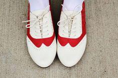 Red Saddle Shoes   33 DIY Shoe Hacks