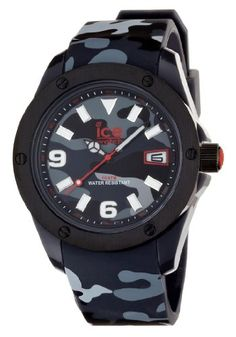 Men's Wrist Watches - Ice Watch Mens IABKXLR11 Army Collection Black Camouflage Watch ** Want to know more, click on the image. (This is an Amazon affiliate link)